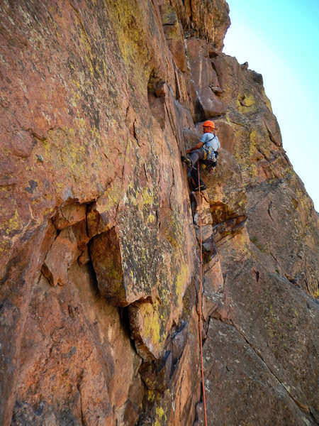 Rock Climbing Photo: Outer Space. Start of the 1st pitch.   Photo: Nate...