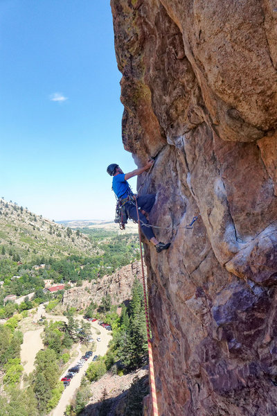 Rock Climbing Photo: Nate Erickson on 2nd pitch of Outer Space. Septemb...