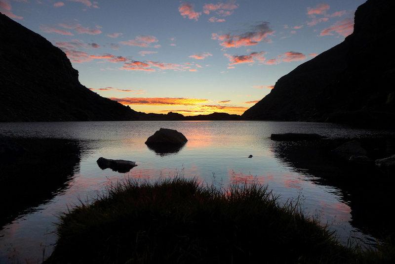 Early morning at Chasm Lake.