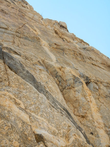 Rock Climbing Photo: The start from the ledge.