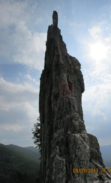 Rock Climbing Photo: looking up the south side of gun sight notch