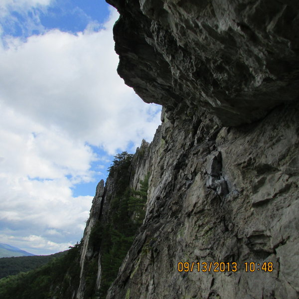 Rock Climbing Photo: under the pleasant overhangs roof
