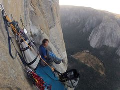 Rock Climbing Photo: Long Ledge on the Salathe Headwall