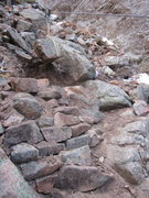 Rock Climbing Photo: One of the trickier sections of trail leading up t...