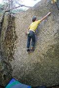Rock Climbing Photo: The crux of Landstrider