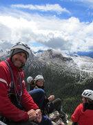 Rock Climbing Photo: Mauro Bernardi, and a Swiss party share the summit...