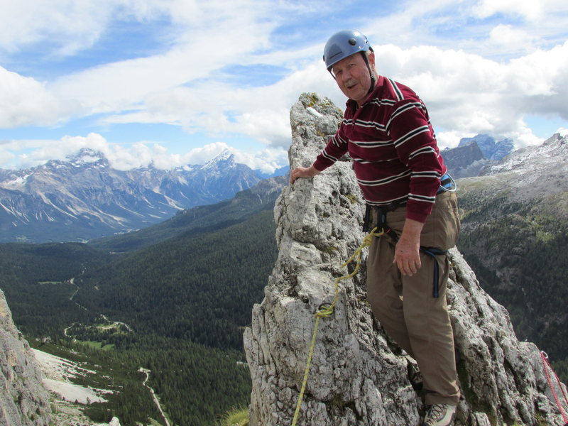 At the summit spire!