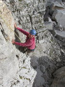 Rock Climbing Photo: The first pitch of this climb is pretty well polis...