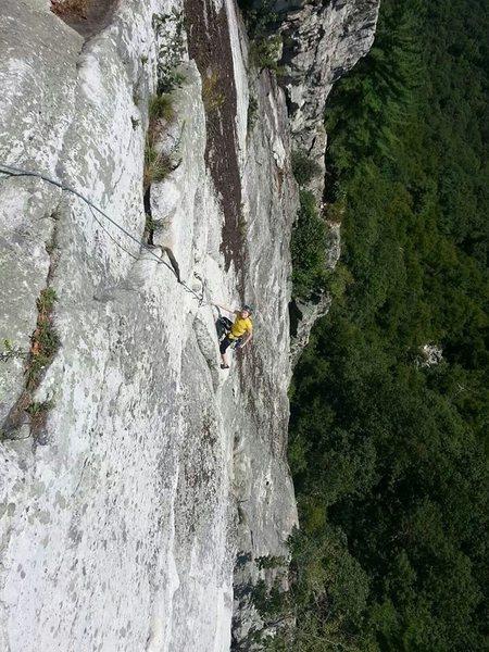 Rock Climbing Photo: prefect weather, cruisey climb