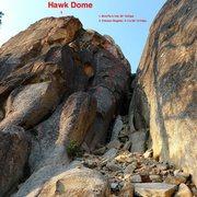 Rock Climbing Photo: Topo to far right side of Hawk Dome.