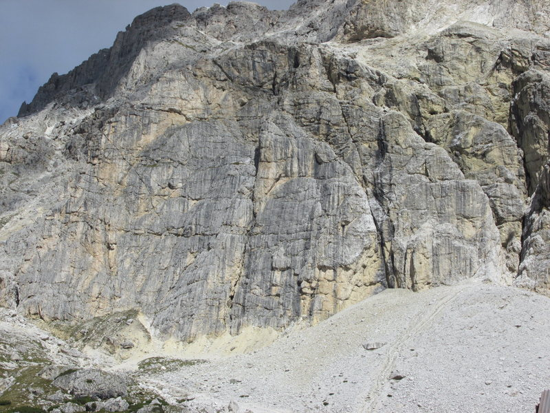 Rock Climbing Photo: Kleiner Lagazuoi, Left Side. Home to Via del Buco.
