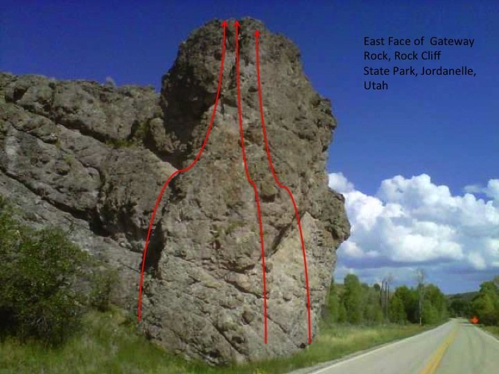 Rock Climbing Photo: This is the East Face of Gateway Rock.  It is the ...