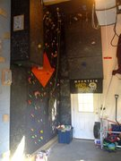 New and improved climbing wall.