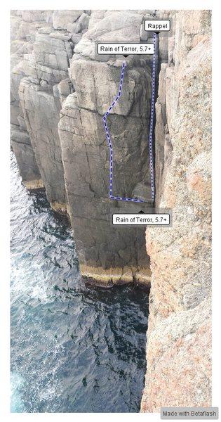Rock Climbing Photo: Rain of Terror, 5.7+