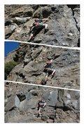 Rock Climbing Photo: 5.10a the warming wall. Mammoth ca