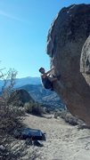 Rock Climbing Photo: Nice early morning warm up with a heal hook