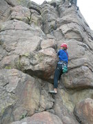 Rock Climbing Photo: Deb gets the hand jams, although she prefers #1 Ca...