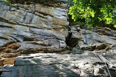 Rock Climbing Photo: Tim in the chimney.