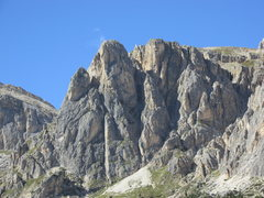 Rock Climbing Photo: South Faces of the two Falzarego Towers. The Klein...