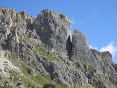 Rock Climbing Photo: Falzarego Towers viewed from Valparola Pass area.