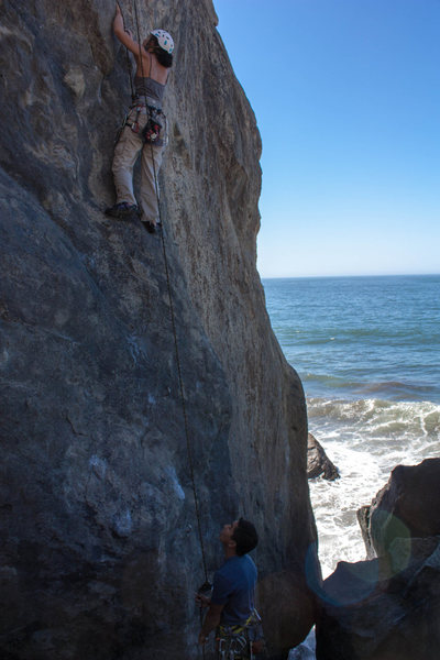 Rock Climbing Photo: Elizabeth making her way up Egghead on a beautiful...