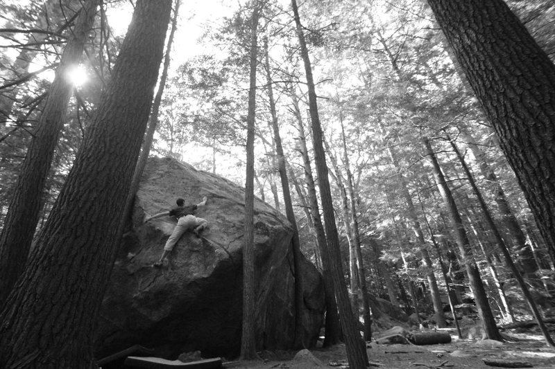 Rock Climbing Photo: keith killing a Terrorist