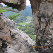 Rock Climbing Photo: staring through the keyhole
