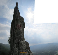 Rock Climbing Photo: looking up the south side of gun sight notch (fina...