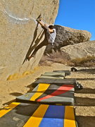 Rock Climbing Photo: Ironman Traverse, V4. Buttermilks, Bishop, CA