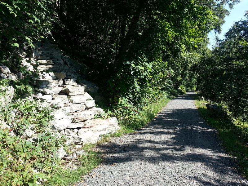 Rock Climbing Photo: Start of trail up to the Mac wall. Trailwork court...