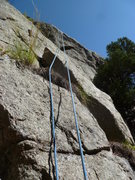 Rock Climbing Photo: The start of the climb.  The original line goes to...