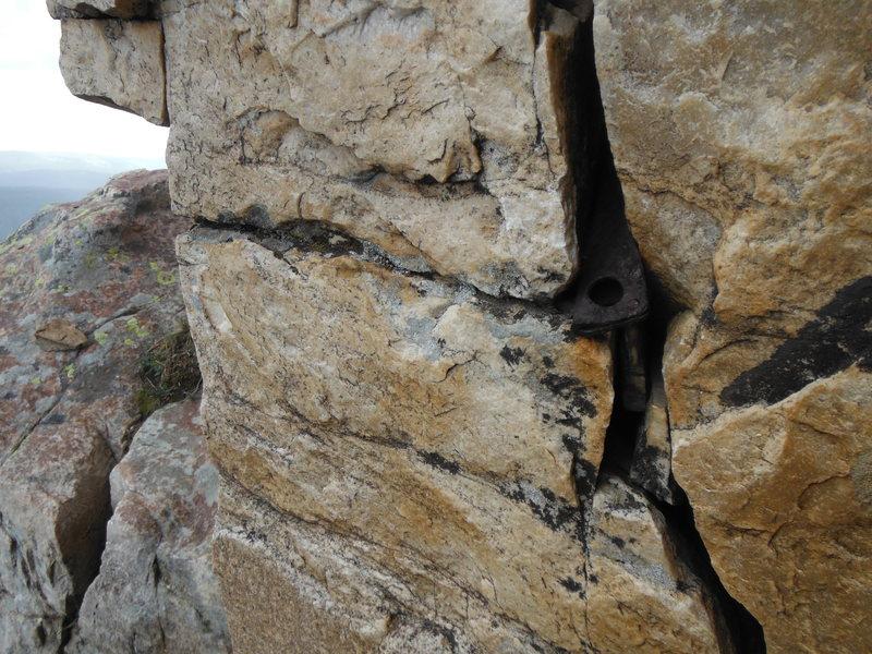 Rock Climbing Photo: Lost piton
