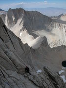 Rock Climbing Photo: Dr Mccormack pausing on the East Buttress Of Mt Wh...