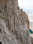 Rock Climbing Photo: looking back from the fresh air traverse, at the d...