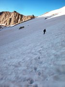 Rock Climbing Photo: headin to whitney Russell col