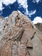 Rock Climbing Photo: Fishook Arete, Mt Russell, 14,096 ft CA.