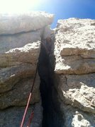 Rock Climbing Photo: The squeeze chimney on the Southwest Buttress of  ...