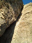 Rock Climbing Photo: 2nd pitch offwidth crack