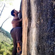 Rock Climbing Photo: Halfway up Vertical Ice