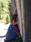 Rock Climbing Photo: Sabrina on Vertical Ice