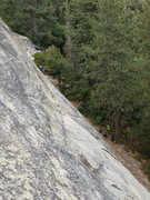 Rock Climbing Photo: From the far side of the wall looking north at cli...