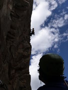 Rock Climbing Photo: EFR redpointing pitch 2