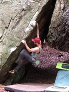 "Rock Climbing Photo: Parlier on the FA of ""Allegory of the Cave&qu..."