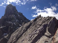 Rock Climbing Photo: The Knife ridge section after the 3rd spire, looki...