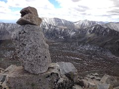 Rock Climbing Photo: Summit of Fletcher looking south to Wheeler and Ba...