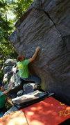 Rock Climbing Photo: Eggert on the send.