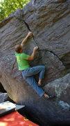 Rock Climbing Photo: Finishing it up.