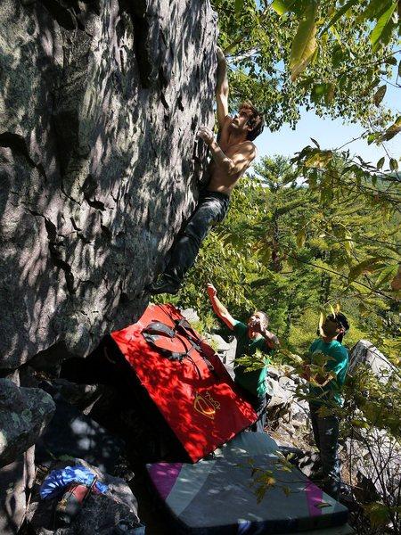 Rock Climbing Photo: Peter Madison Choss Bonamici snagging the 2nd asce...