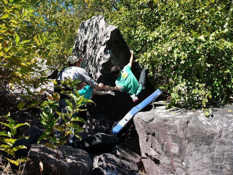 Rock Climbing Photo: Ian on FA