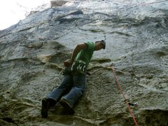 Rock Climbing Photo: First Ascent of the route.